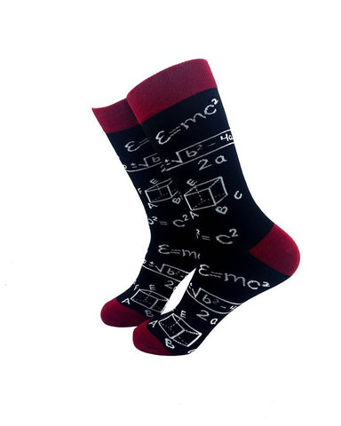 CoolDeSocks Algebra Crew Socks left view image