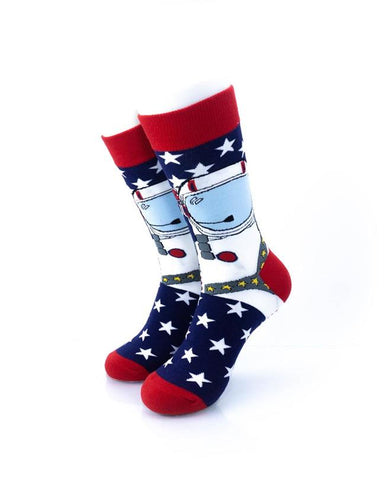 CoolDeSocks American Astronaut Socks front view image