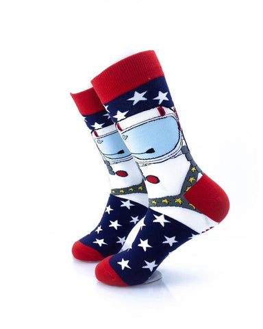 CoolDeSocks American Astronaut Socks left view image