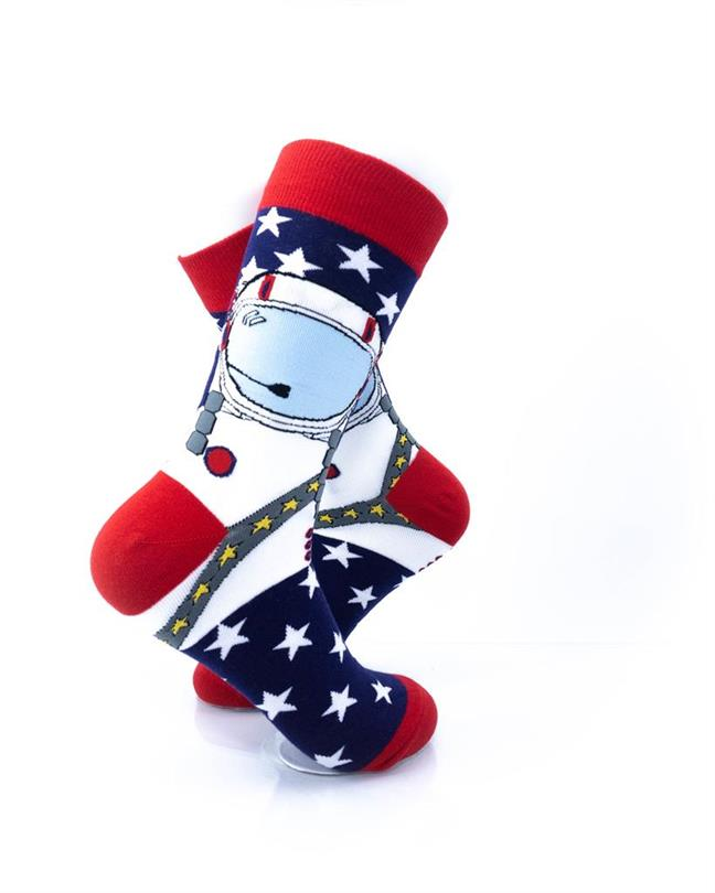 cooldesocks american astronaut crew socks right view