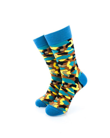 CoolDeSocks Army Colorful Socks Front View Image