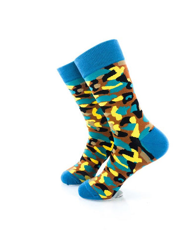 CoolDeSocks Army Colorful Socks Left View Image