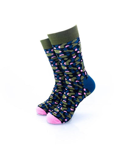 CoolDeSocks Army Pink Socks front view image