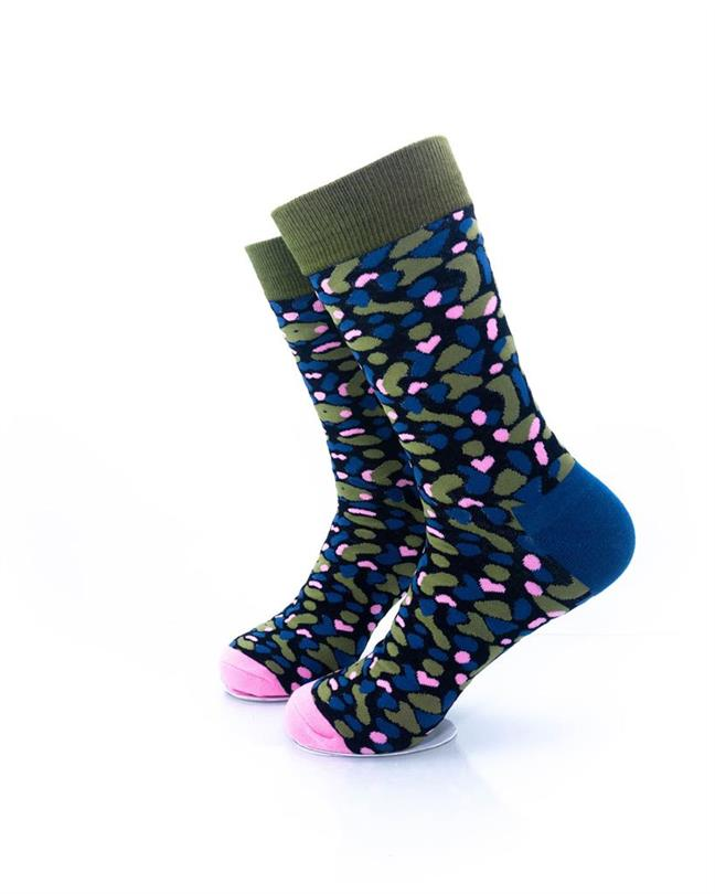CoolDeSocks Army Pink Socks left view image