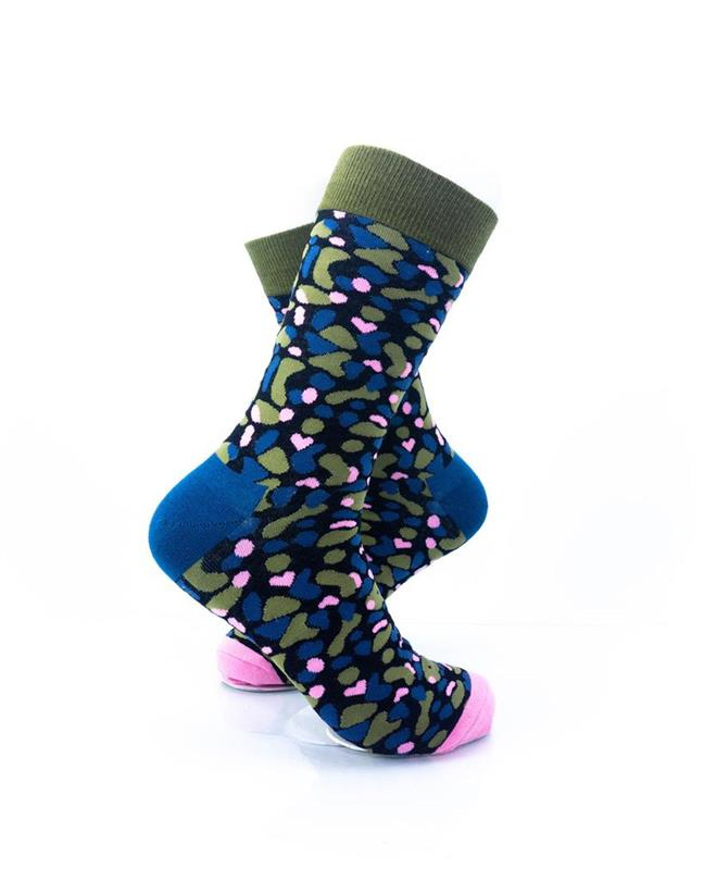 CoolDeSocks Army Pink Socks right view image