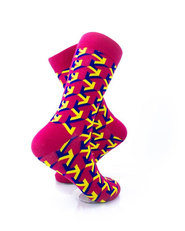 CoolDeSocks Arrow Raspberry Socks right view image