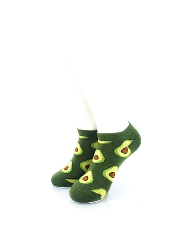 CoolDeSocks Avocado Liner Socks front view image