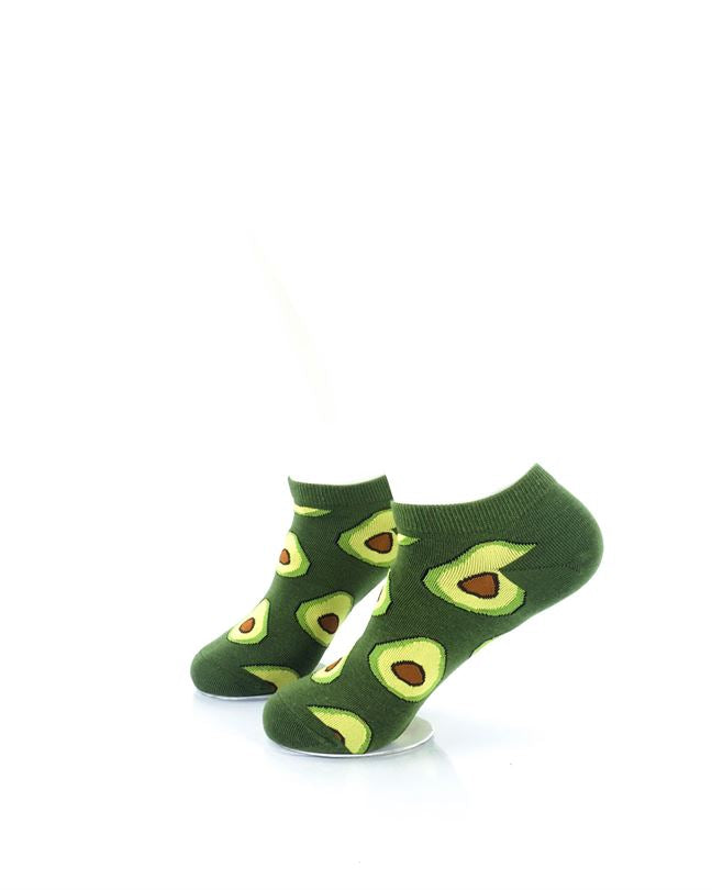 CoolDeSocks Avocado Liner Socks left view image
