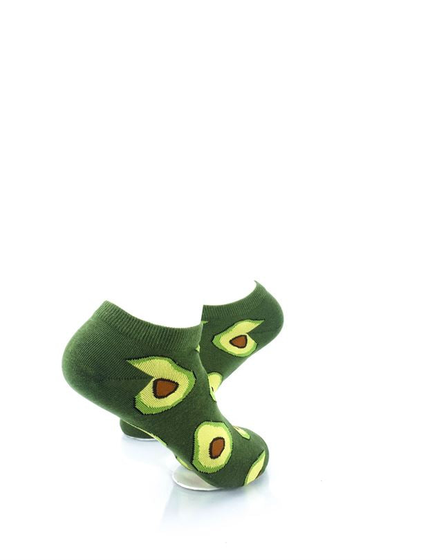 CoolDeSocks Avocado Liner Socks right view image