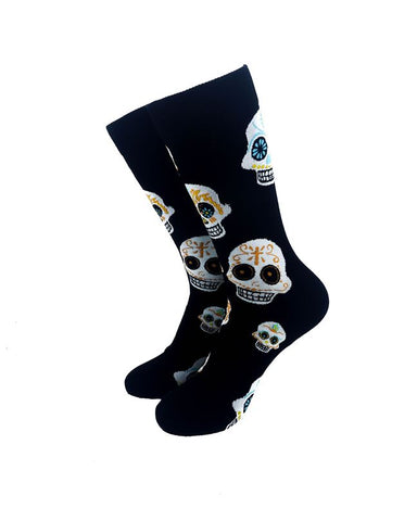 CoolDeSocks Aztec Skulls Crew Socks front view image
