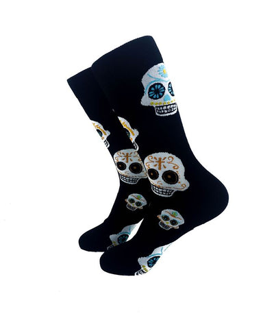 CoolDeSocks Aztec Skulls Crew Socks left view image