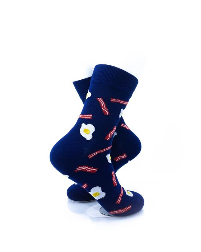 CoolDeSocks Bacon and Egg Socks right view image