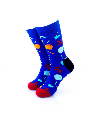 CoolDeSocks Balloon Party - Blue Socks front view image