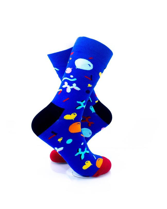 CoolDeSocks Balloon Party - Blue Socks right view image