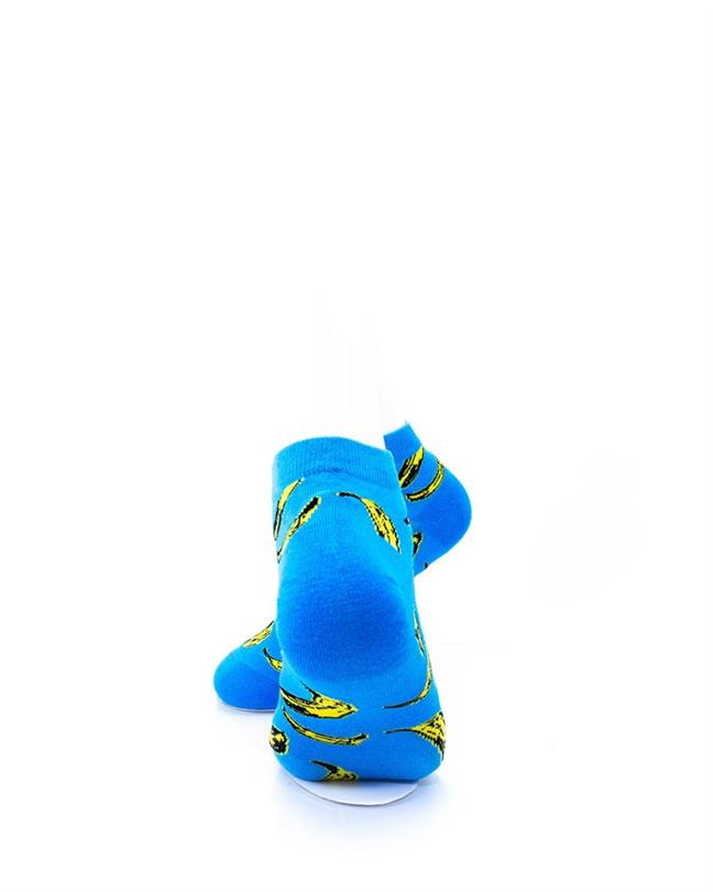 CoolDeSocks Banana Blue Socks rear view image