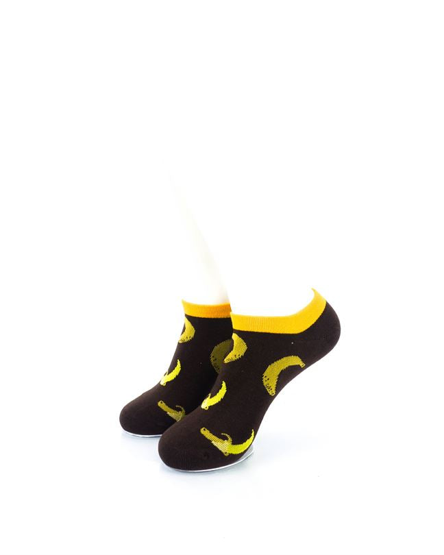 CoolDeSocks Banana Brown Liner Socks front view image