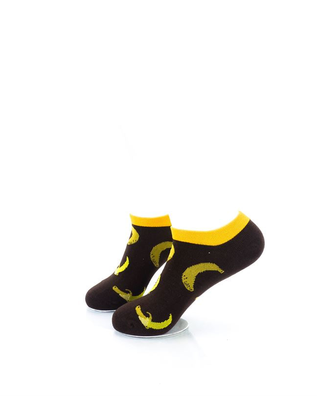 CoolDeSocks Banana Brown Liner Socks left view image