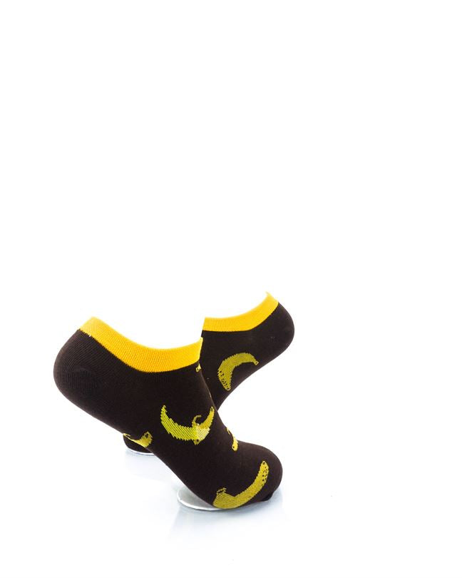 CoolDeSocks Banana Brown Liner Socks right view image