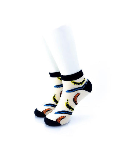 cooldesocks banana colorful ankle socks front view