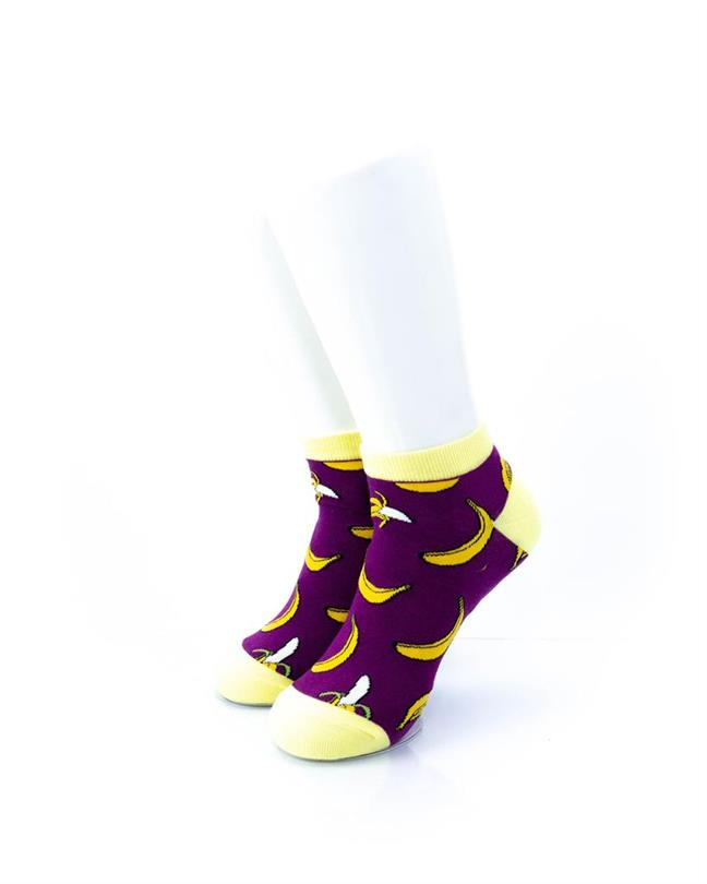 CoolDeSocks Banana Purple Socks front view image