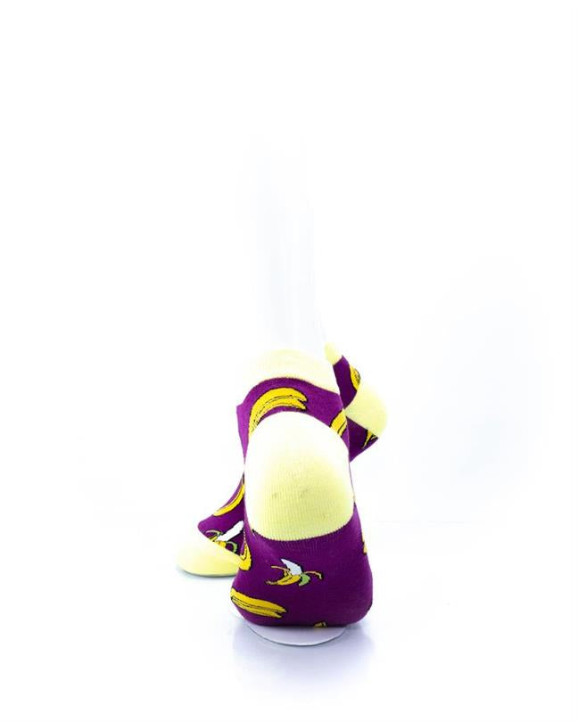 CoolDeSocks Banana Purple Socks rear view image