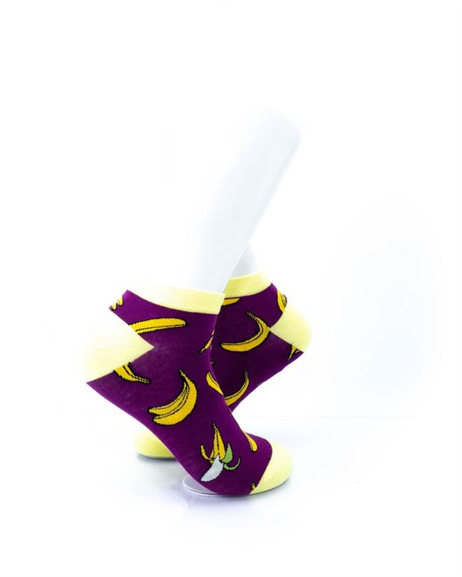 CoolDeSocks Banana Purple Socks right view image