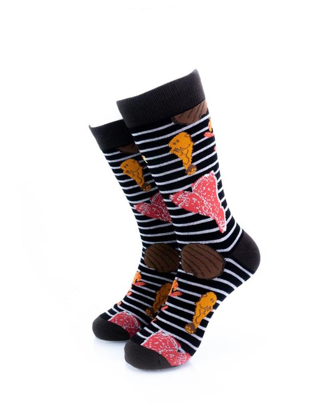 cooldesocks barbeque grill crew socks front view