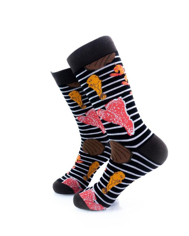 CoolDeSocks Barbeque Grill Socks left view image