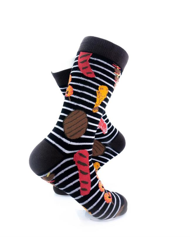 cooldesocks barbeque grill crew socks right view