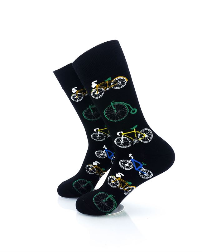 CoolDeSocks Bicycle Collectors Crew Socks left view image