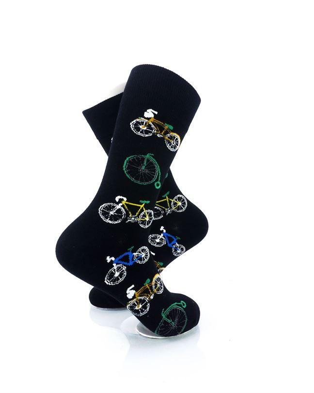 CoolDeSocks Bicycle Collectors Crew Socks right view image