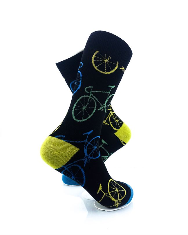 CoolDeSocks Bicycle Socks right view image