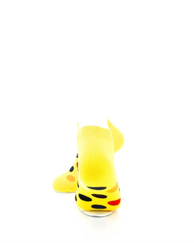 CoolDeSocks Big Dot Yellow Ankle Socks rear view image