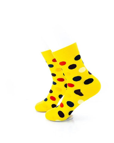 CoolDeSocks Big Dot (Yellow) Socks left view image