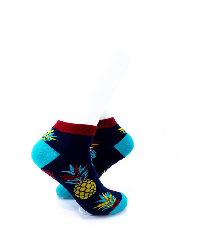 CoolDeSocks Big Pineapple Red Blue Socks right view image
