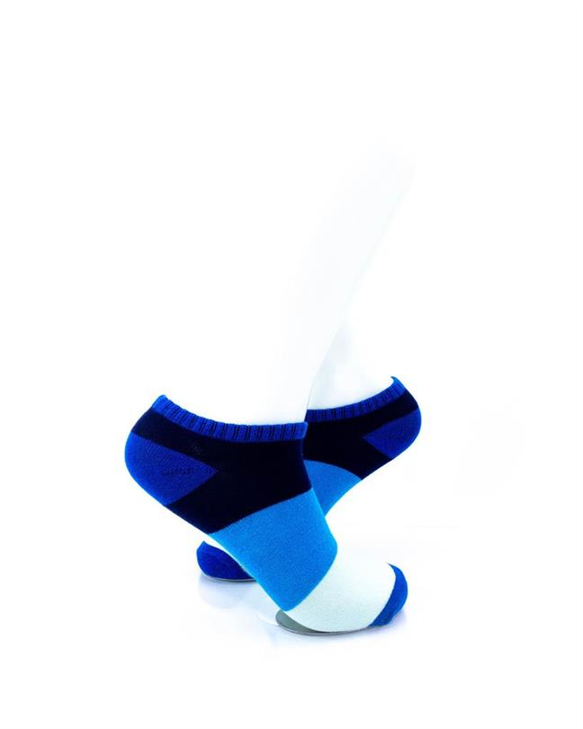 CoolDeSocks Big Stripe Blue Socks right view image
