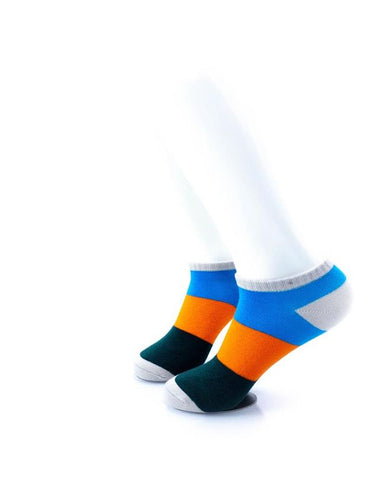 CoolDeSocks Big Stripe Orange Socks left view image