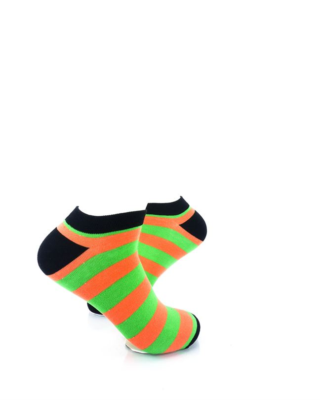 cooldesocks big stripe orange green ankle socks right view