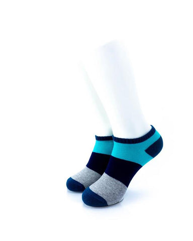 CoolDeSocks Big Stripe Teal Socks front view image