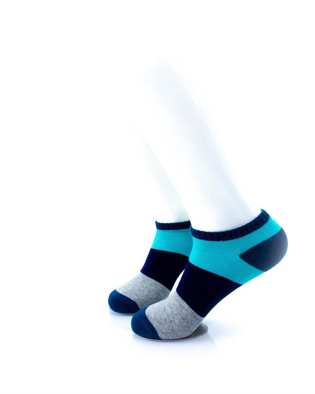 CoolDeSocks Big Stripe Teal Socks left view image