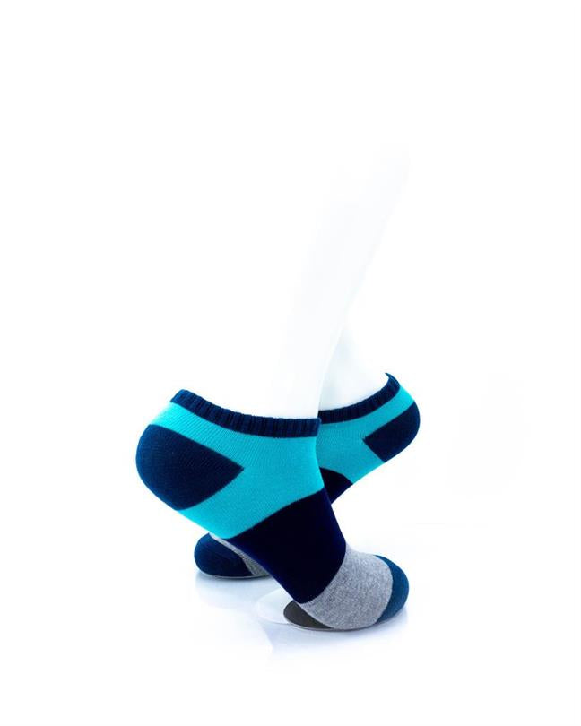 CoolDeSocks Big Stripe Teal Socks right view image