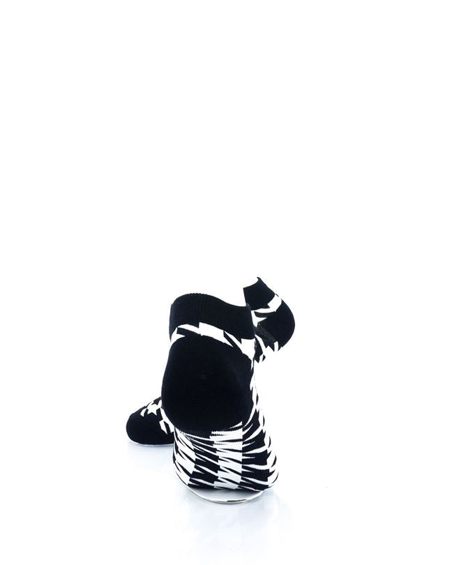 CoolDeSocks Black and White Houndstooth Ankle Socks rear view image