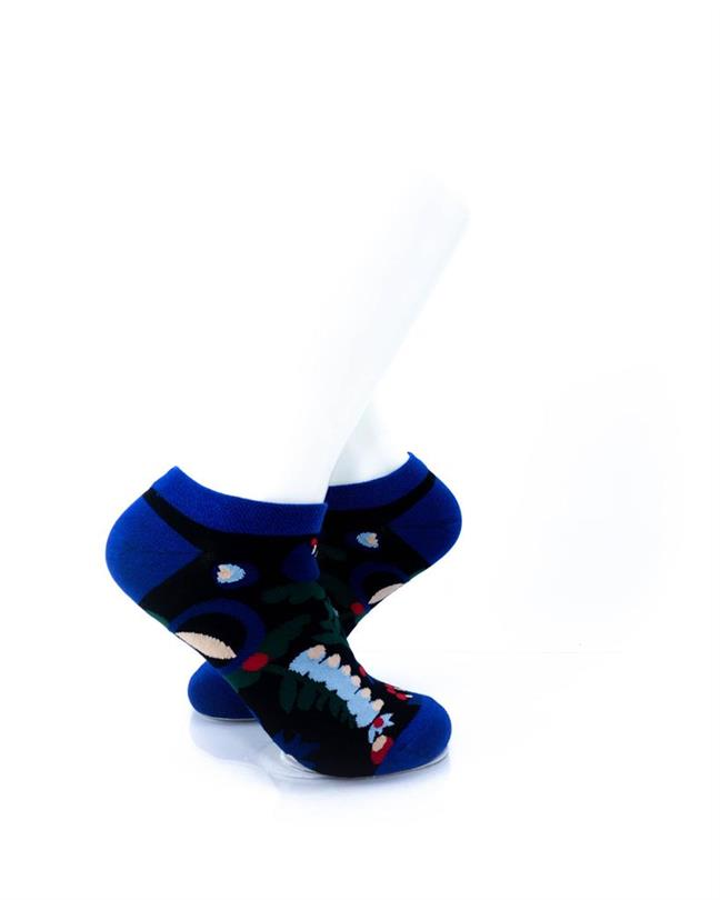 cooldesocks blue flowers ankle socks right view