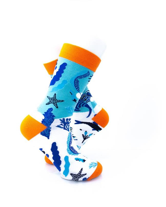 CoolDeSocks Blue Ocean Socks right view image