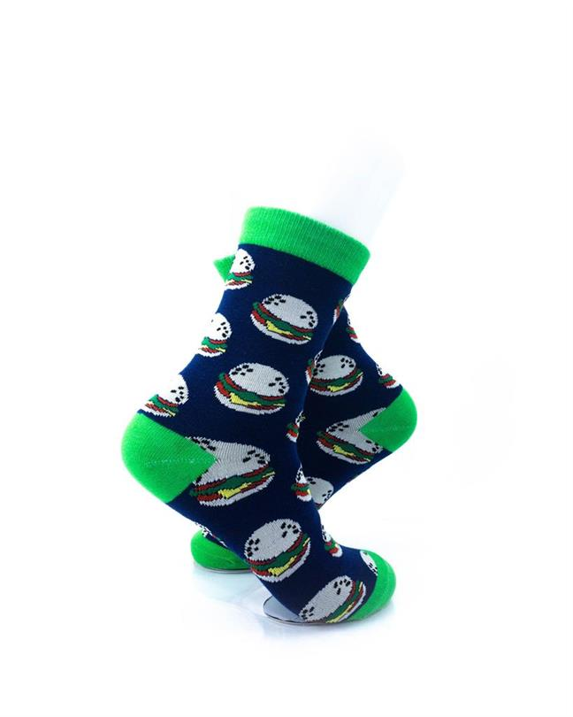 CoolDeSocks Burgers Green Socks right view image