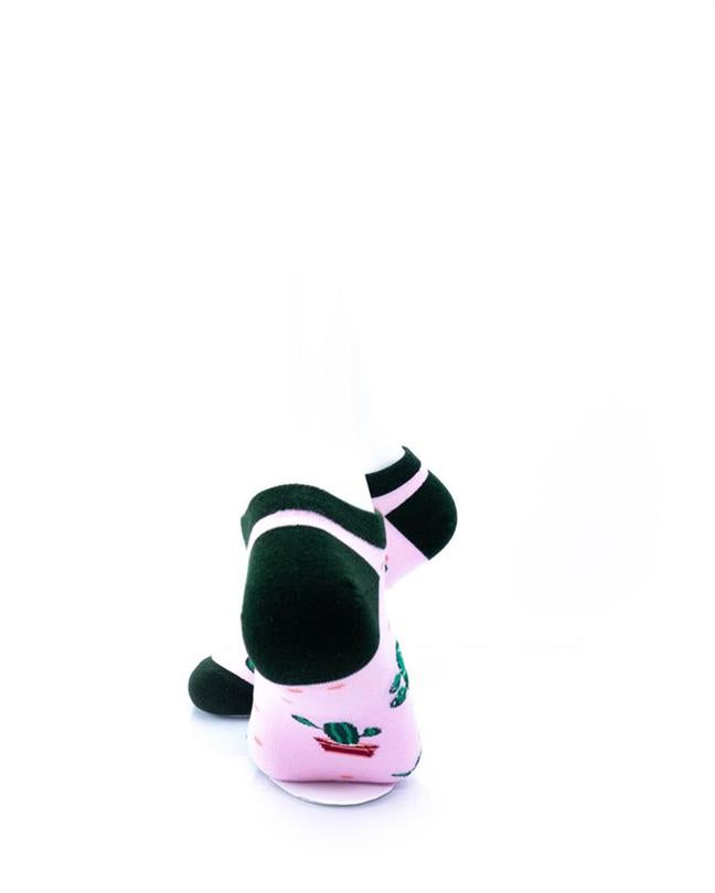 cooldesocks cactus in pink ankle socks rear view