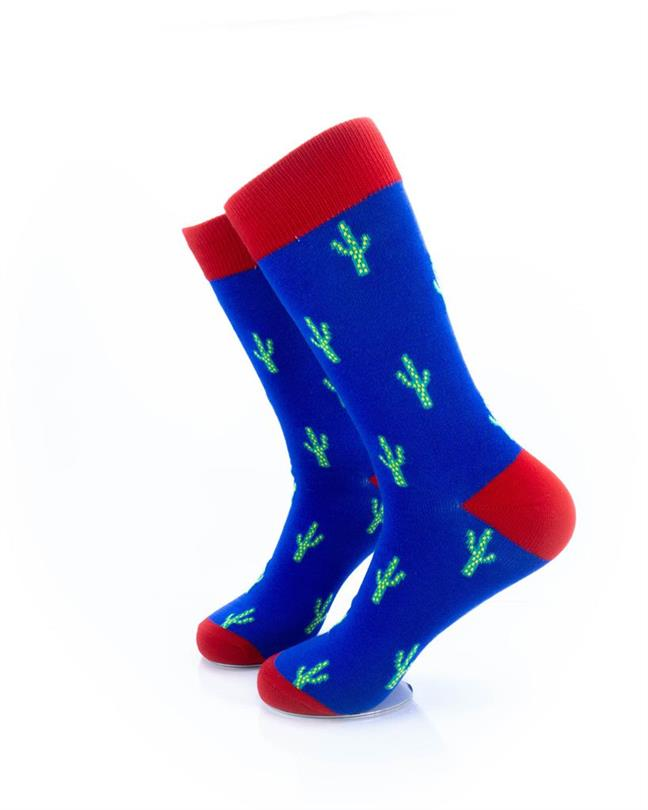 CoolDeSocks Cactus Print Socks left view image