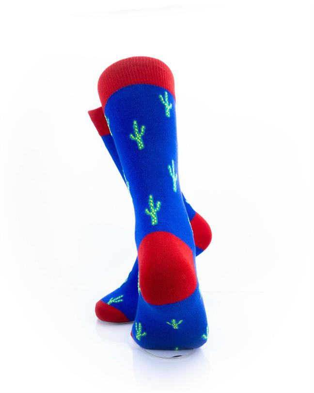 CoolDeSocks Cactus Print Socks rear view image