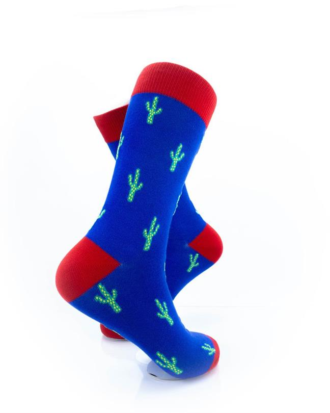 CoolDeSocks Cactus Print Socks right view image