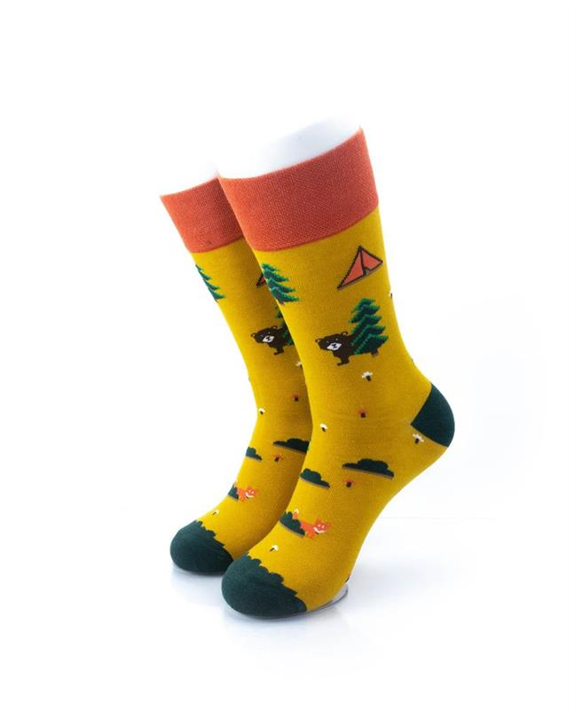 CoolDeSocks Camping Ground Socks front view image